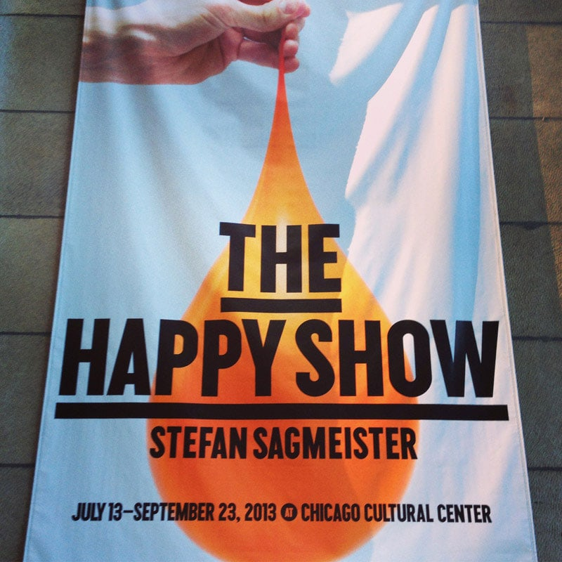 Exhibit: The Happy Show by Stefan Sagmeister via @chykalophia