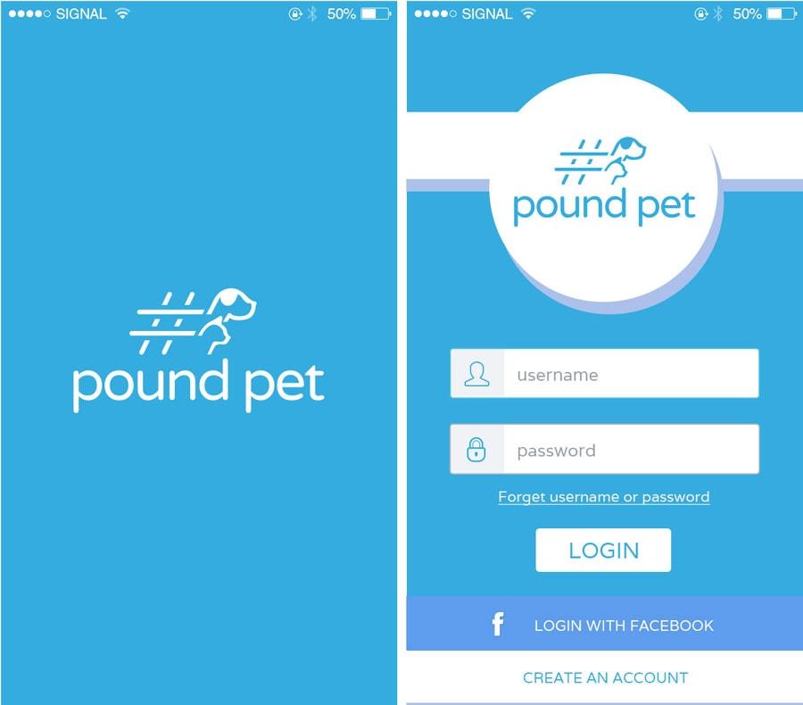 Pound Pet App design