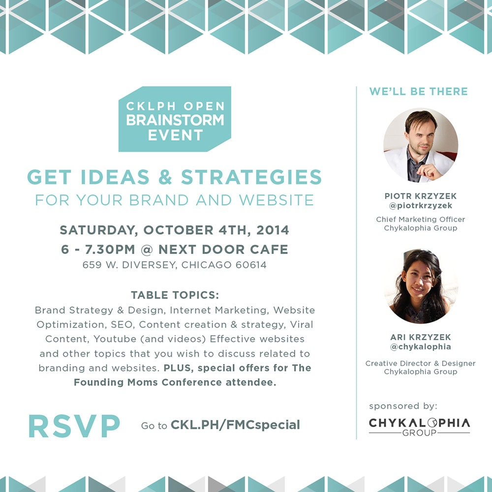 Get Ideas & Strategies For Your Brand & Website – Open Brainstorm Event October 4th, 2014