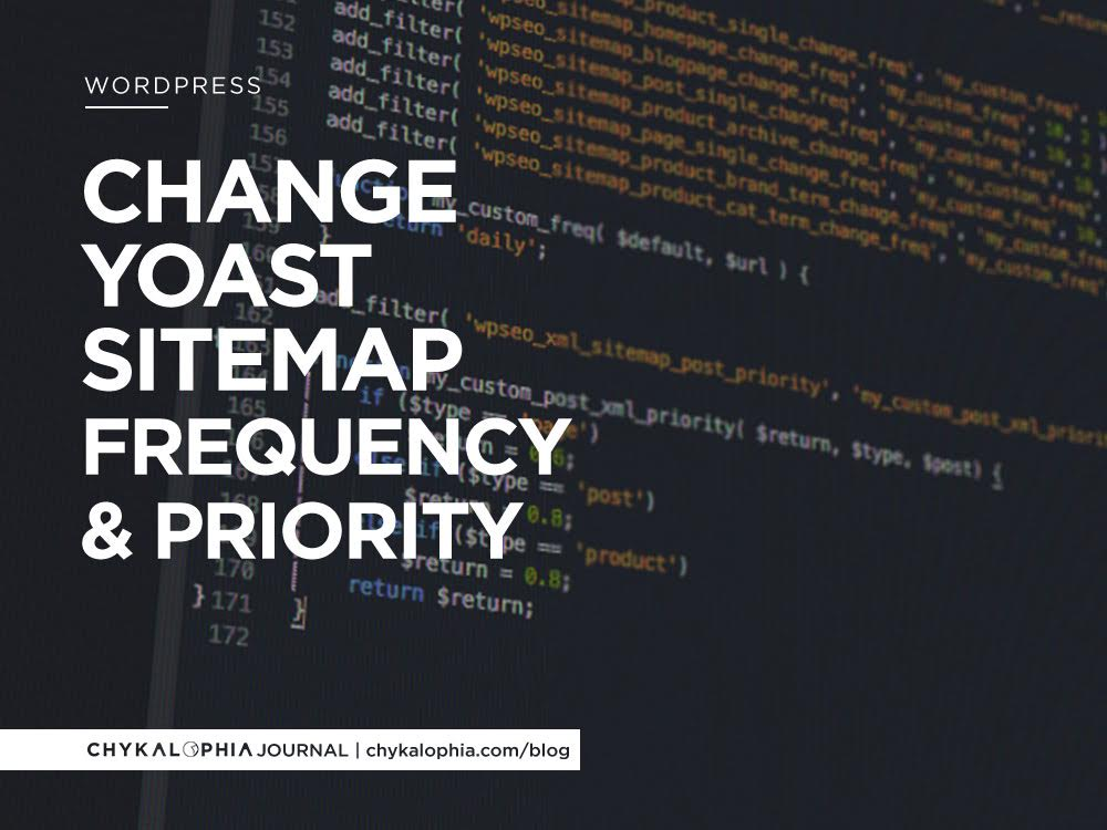 Change Yoast Sitemap Frequency And Priority